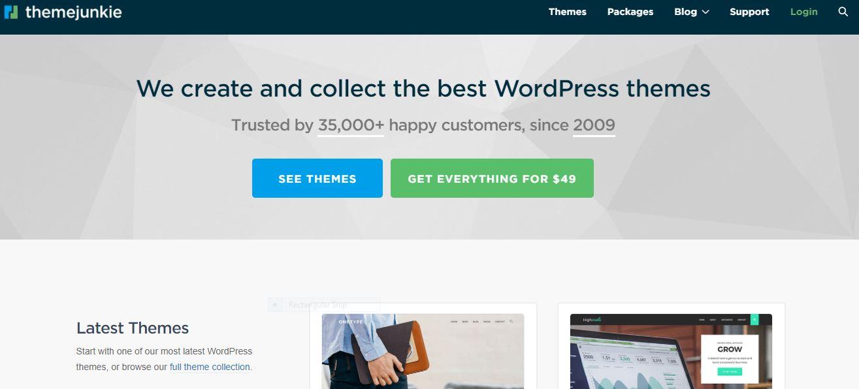 theme junkie wordpress marketplace
