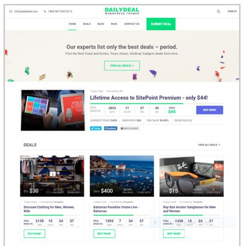 aily Deal - Coupon Deal Website by Templatic