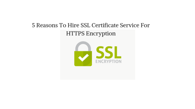 5 Reasons To Hire SSL Certificate Service For HTTPS Encryption